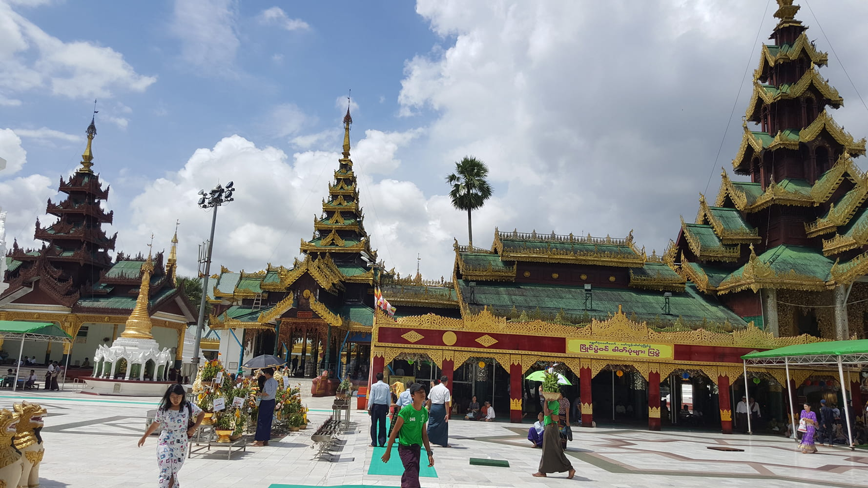 Within the compound of Shwedagon Pagoda